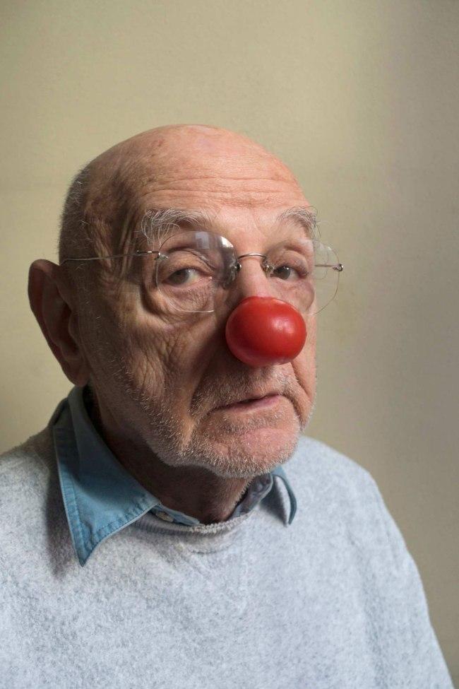Randy Duchaine. 'Duane Michals, portrait with red nose' 2015