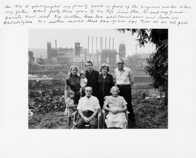 Duane Michals. From the series 'I Remember Pittsburgh' 1982