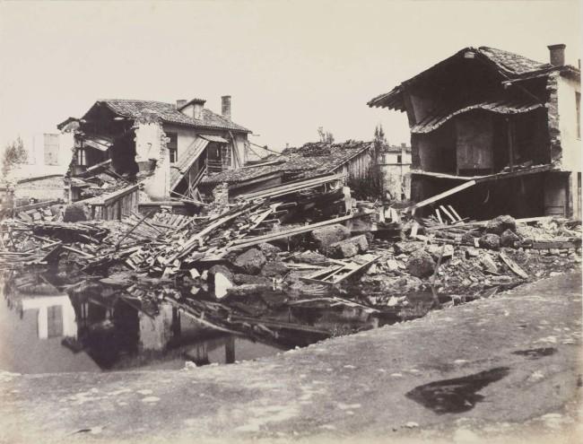 Edouard Denis Baldus (French, 1813-1889) 'The Floods of 1856, Brotteaux Quarter of Lyon' 1856
