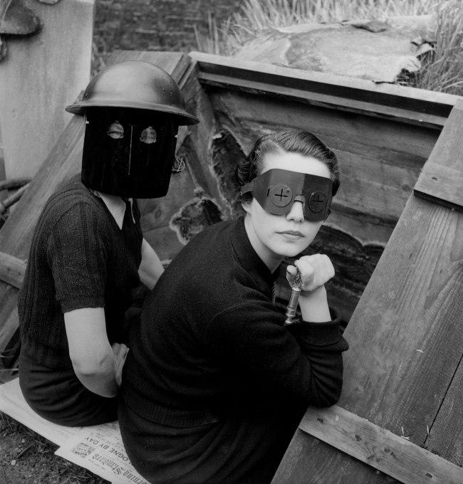 Lee Miller. 'Fire Masks, London, England' 1941
