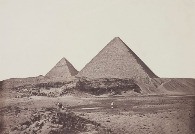 James Robertson and Felice Beato. 'Pyramids at Giza' 1857
