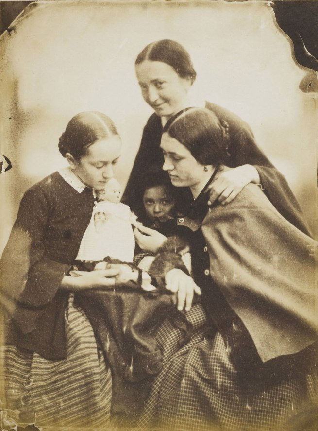 Jean-Baptiste Frénet. 'Women and girls with a doll' c. 1855