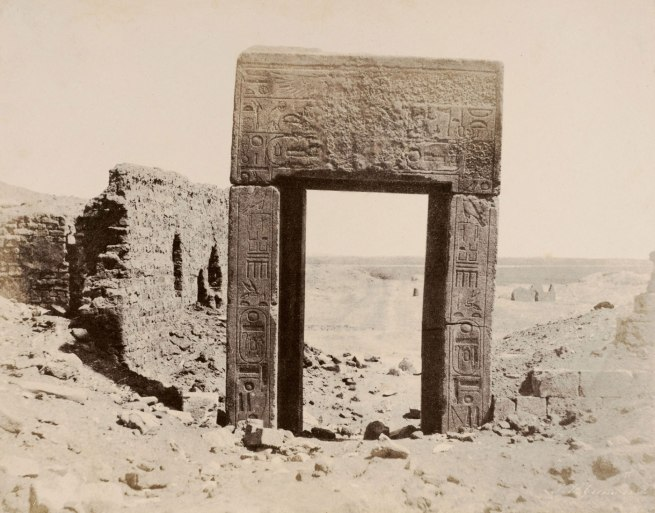 John Beasly Greene. 'El Assasif, Porte de Granit Rose, No 2, Thébes' 1854
