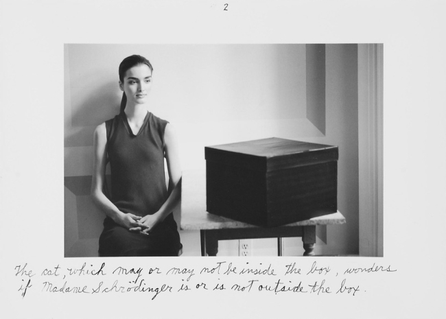 Duane Michals. 'Madame Schrödinger's Cat' 1998