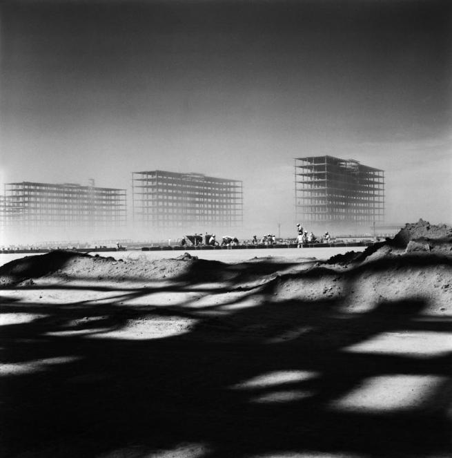 Marcel André Félix Gautherot (Brazilian, 1910-1996) 'Ministries under construction Brasilia, Brazil' c. 1958