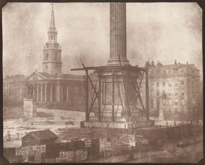 William Henry Fox Talbot. 'Nelson's Column Under Construction, Trafalgar Square' 1844