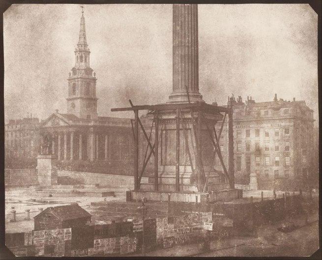 William Henry Fox Talbot. 'Nelson's Column Under Construction, Trafalgar Square' 1844