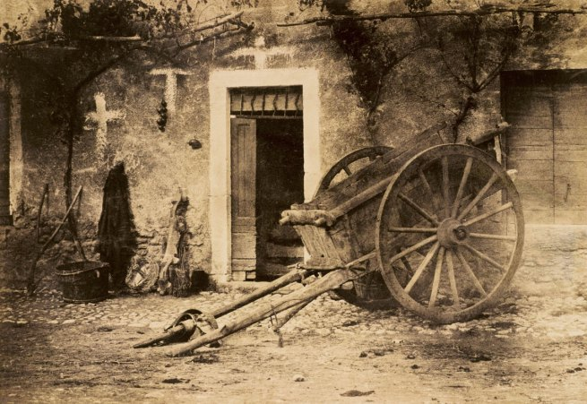 Paul Marés. 'Ox cart in Brittany' c. 1857