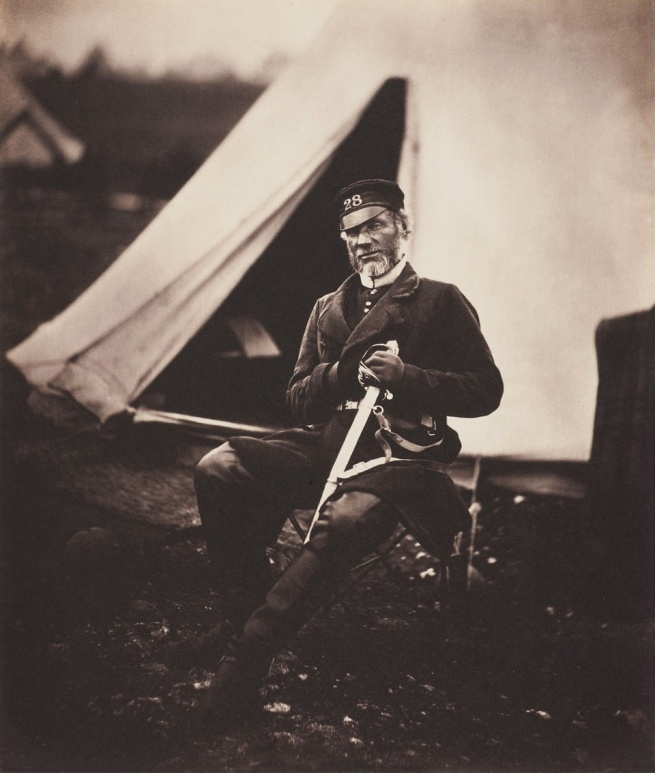 Roger Fenton. 'Captain Mottram Andrews, 28th Regiment (1st Staffordshire) Regiment of Foot' 1855