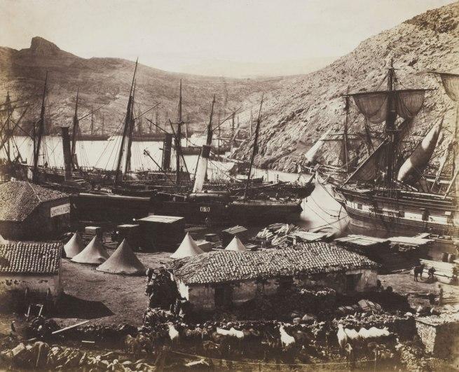 Roger Fenton. 'Cossack Bay, Balaclava' 1855