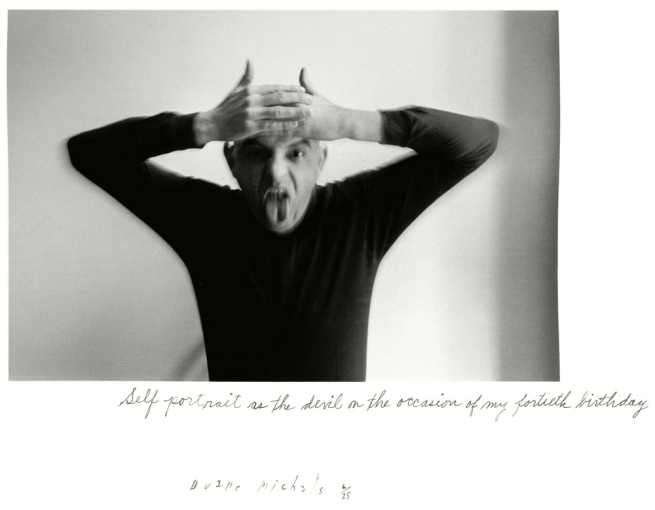 Duane Michals. 'Self Portrait as a Devil on the Occasion of My Fortieth Birthday' 1972