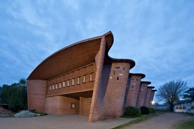 Eladio Dieste (Uruguayan, 1917-2000) 'Church in Atlantida, Uruguay' 1958