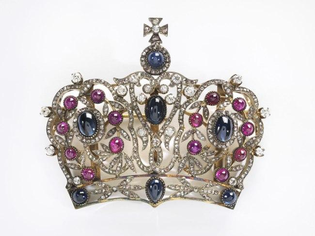Russian. 'Crown Brooch' 1890-1910