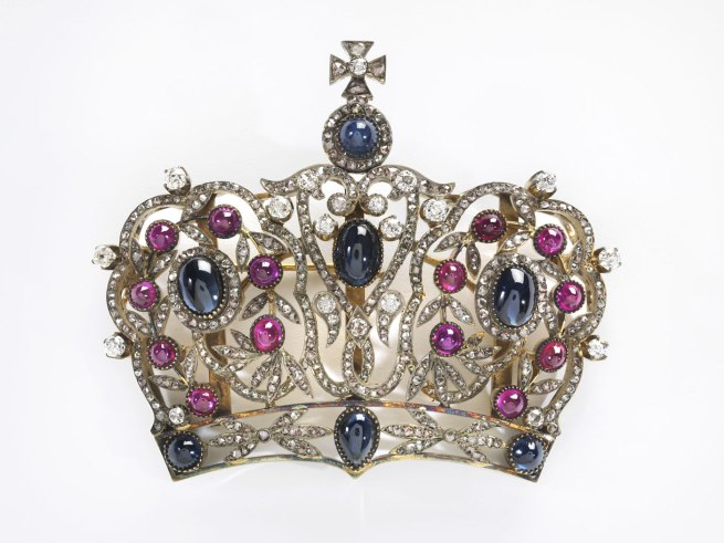 Russian. 'Crown Brooch' 1890-1910