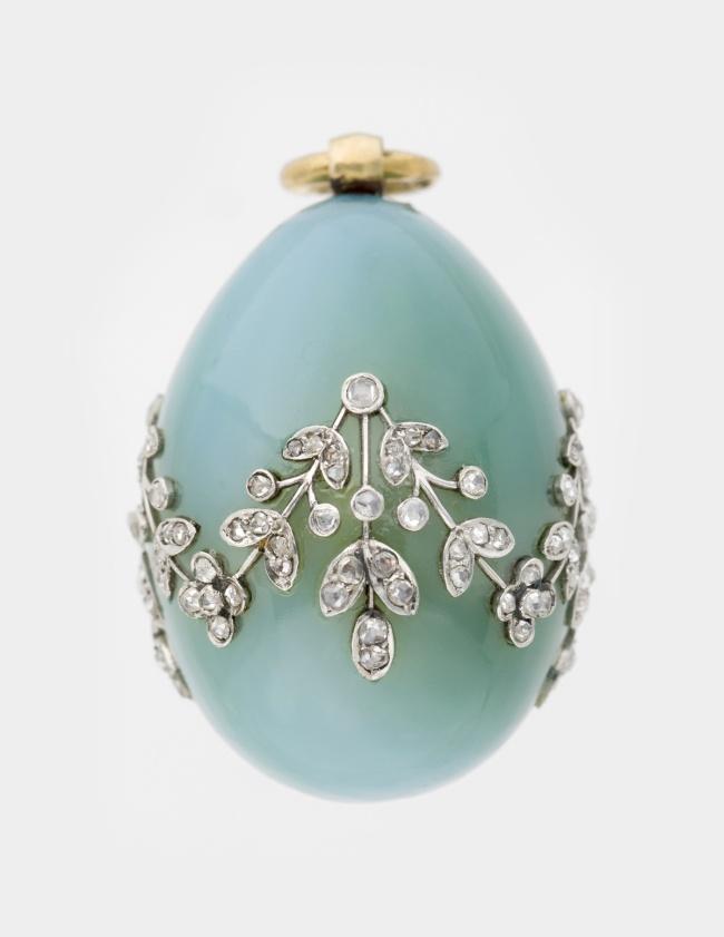 Peter Karl Fabergé (Russian, 1846-1920). 'Miniature Easter Egg Pendant' c. 1900
