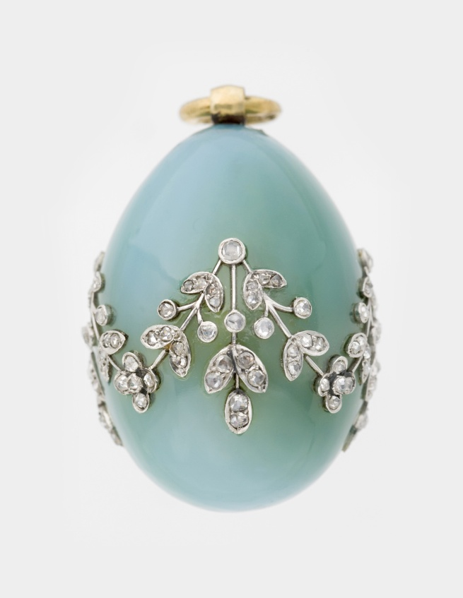 Peter Karl Fabergé (Russian, 1846-1920). 'Miniature Easter Egg Pendant' c. 1900