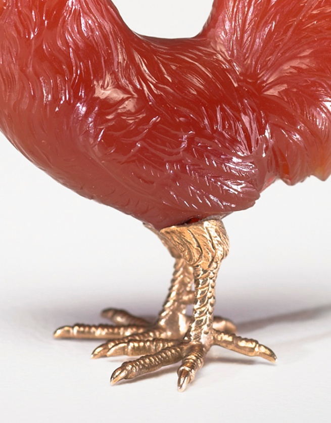 Peter Karl Fabergé (Russian, 1846-1920) 'Rooster' (detail) c. 1900