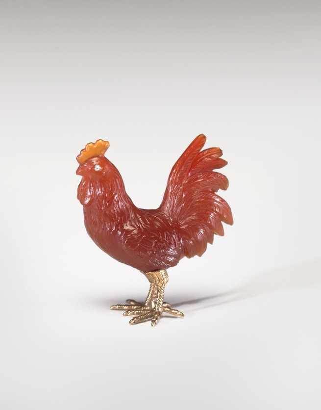Peter Karl Fabergé (Russian, 1846-1920). 'Rooster' c. 1900