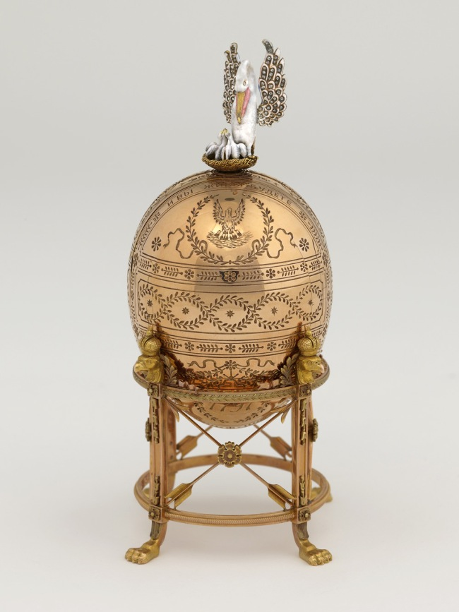 Peter Karl Fabergé (Russian, 1846-1920). 'Imperial Pelican Easter Egg' 1897