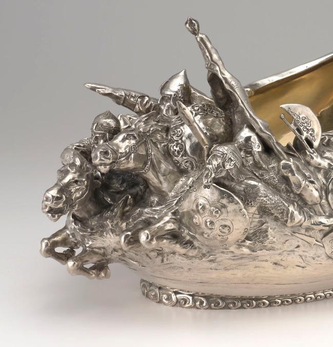 Peter Karl Fabergé (Russian, 1846-1920) 'Monumental Kovsh' (detail) 1899-1908