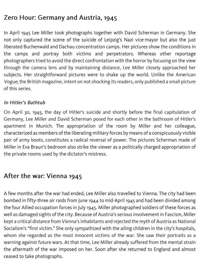 Lee Miller exhibition text