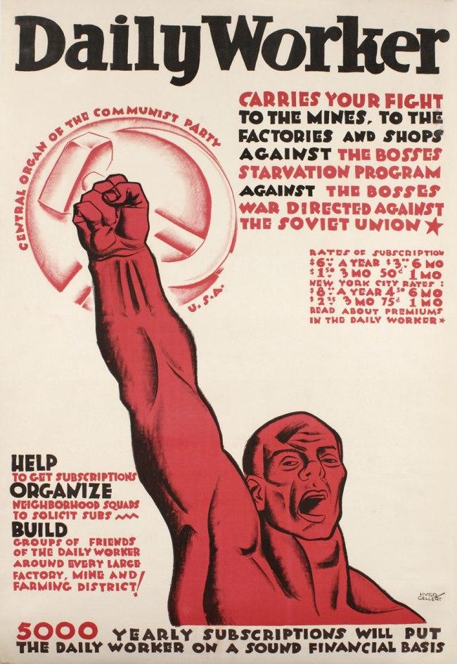 Hugo Gellert (1892-1985) 'Daily Worker' c. 1935