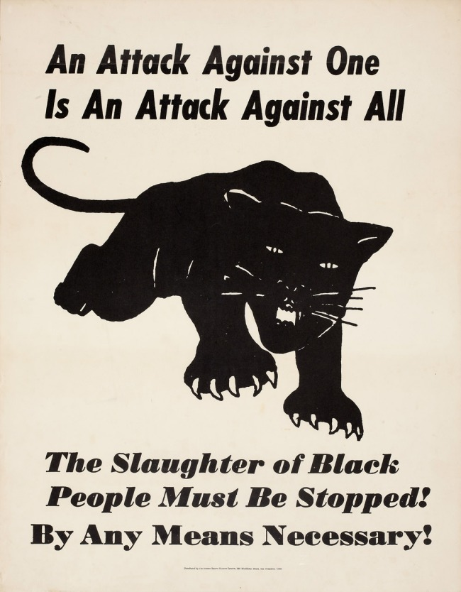 Distributed by the Robert Brown Elliott League. 'An Attack Against One is An Attack Against All' c. 1970