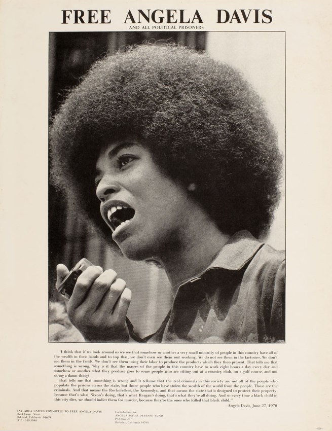 Unidentified artist. 'Free Angela Davis' c. 1970-72