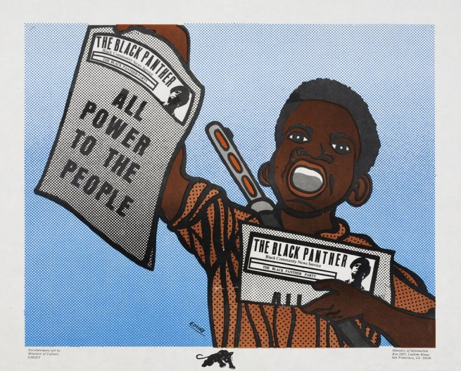 Emory Douglas (b. 1943) 'All Power To The People' 1969