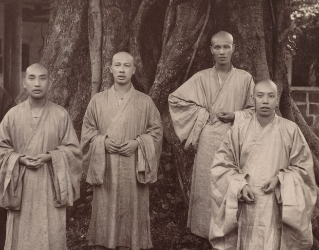 Mee Cheung. 'Buddhist Monks in Chefoo' (detail) c. 1880-1890
