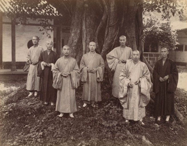 Mee Cheung. 'Buddhist Monks in Chefoo' c. 1880-1890