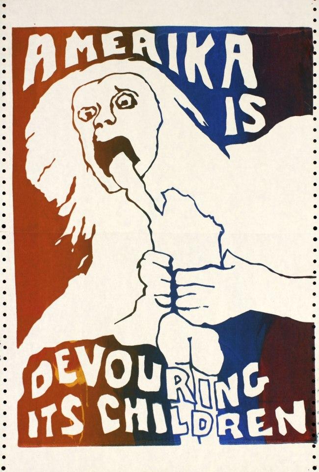 Jay Belloli, Berkeley, California. 'Amerika is Devouring Its Children' 1970