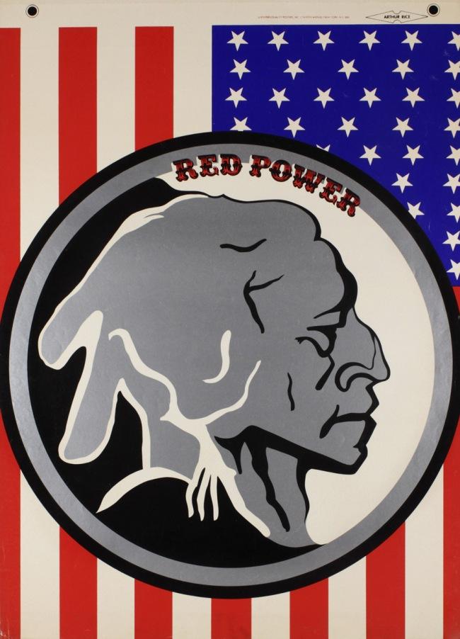 Unidentified artist. 'Red Power' 1970