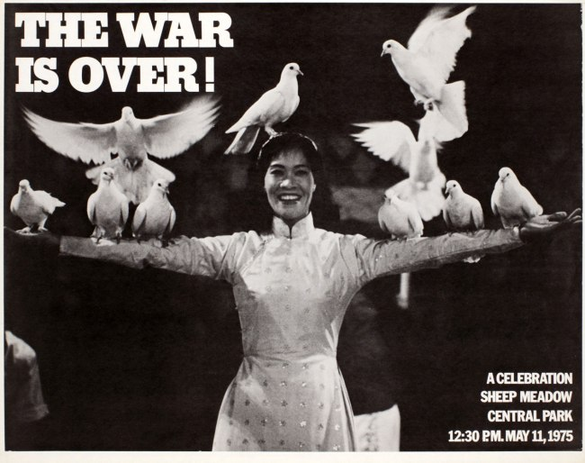 Phil Ochs (1940-76), Cora Weiss (b. 1934) and Dan Luce. 'The War is Over!' 1975