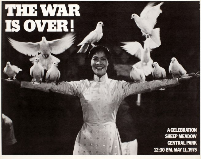 Phil Ochs (1940-76), Cora Weiss (b. 1934) and Dan Luce. 'The War is Over!' 1975