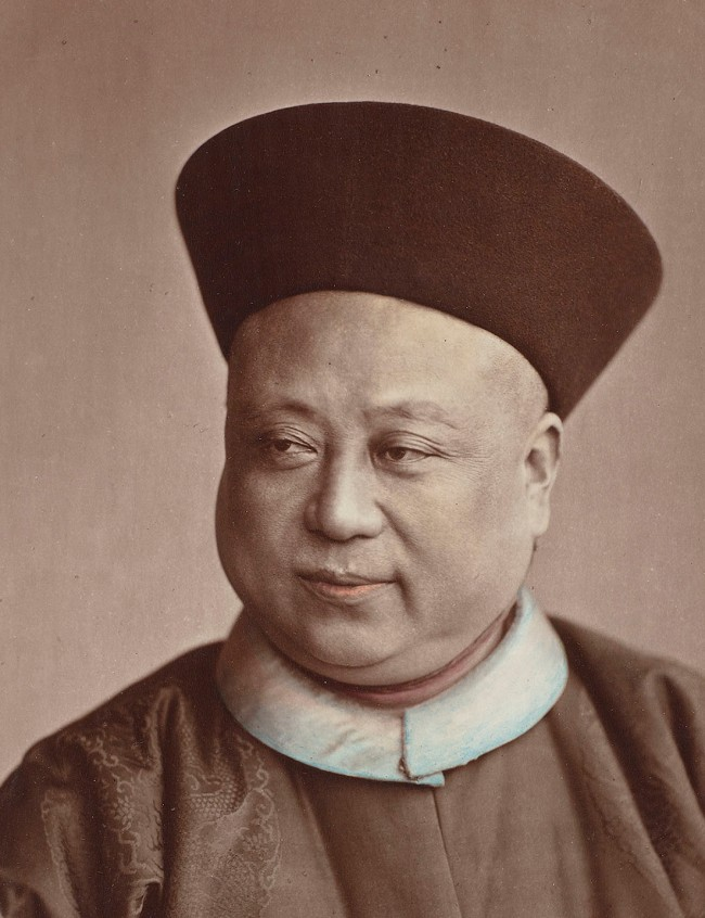 Attributed to Baron Raimund von Stillfried und Ratenitz. 'Portrait of Chinese Admiral Ting' (detail) c. 1861 - c. 1880