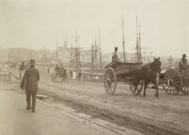 Arthur K. Syer (d. 1935) 'Pyrmont Bridge looking across to City' c. 1880s - 1900