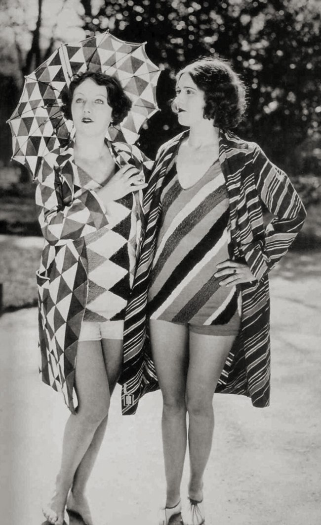 Bathing suits designed by Delaunay, c. 1920s