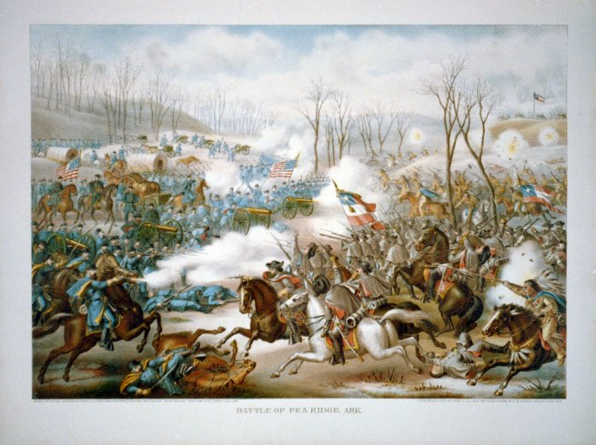 Kurz and Allison, publisher Kurz & Allison. 'Battle of Pea Ridge, Ark., March 6-8, 1862' c. 1889