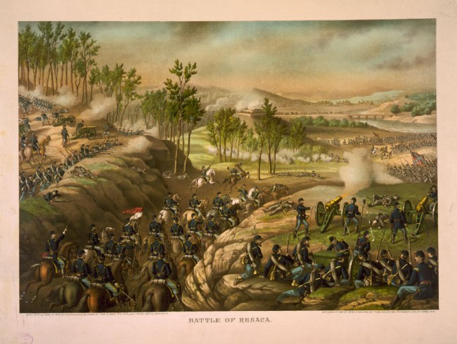 Kurz and Allison. 'Battle of Resaca - May 13-15, 1864' c. 1889