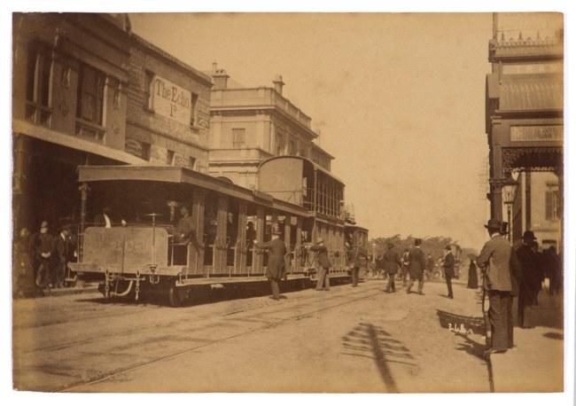 Arthur K. Syer (d. 1935) 'Tram, West Crescent St., North Sydney' c. 1880s - 1900