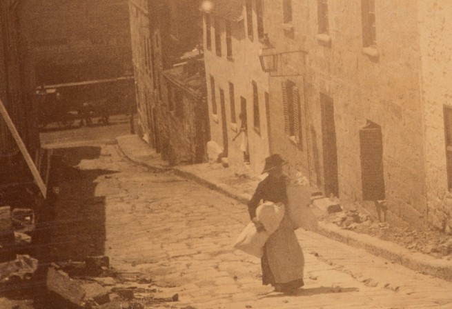 Arthur K. Syer (d. 1935) 'George Street, The Rocks' c. 1880s - 1900 (detail)