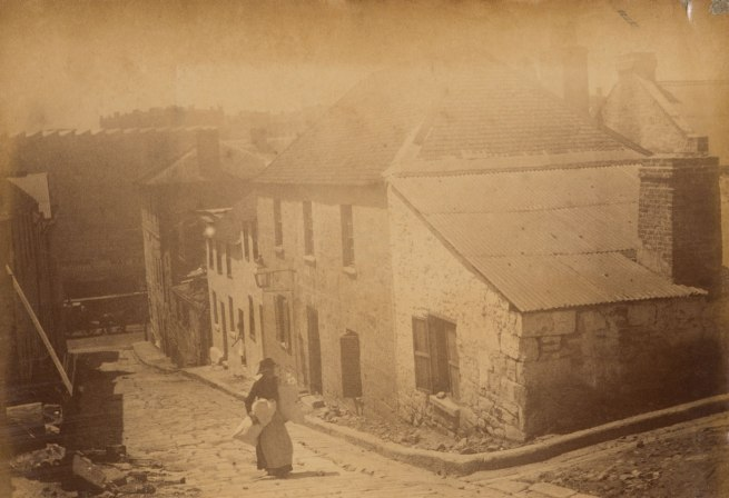 Arthur K. Syer (d. 1935) 'George Street, The Rocks' c. 1880s - 1900