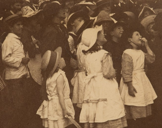 Arthur K. Syer (d. 1935) 'Children crowd around a ladder' (detail) c. 1880s - 1900