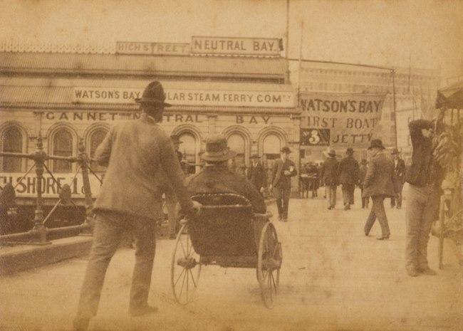 Arthur K. Syer (d. 1935) 'Circular Quay near First Fleet Park' c. 1880s - 1900