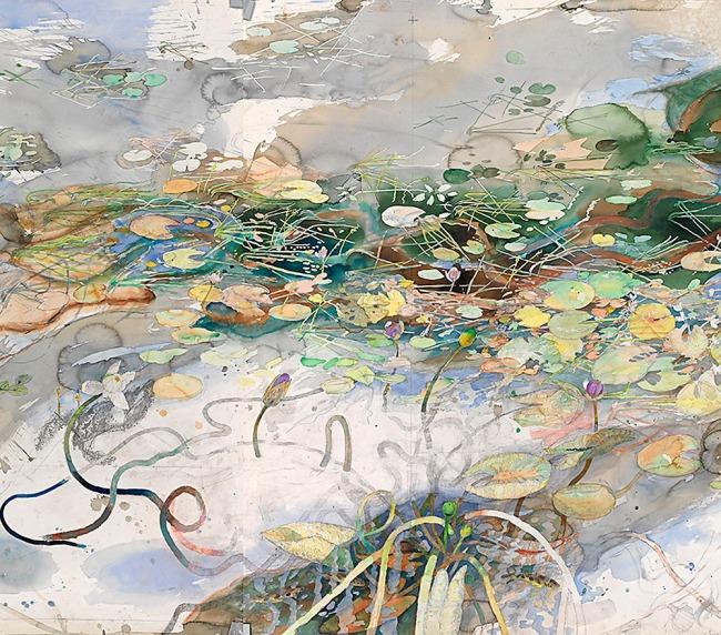 John Wolseley. 'A Daly River creek, NT' (detail) 2012