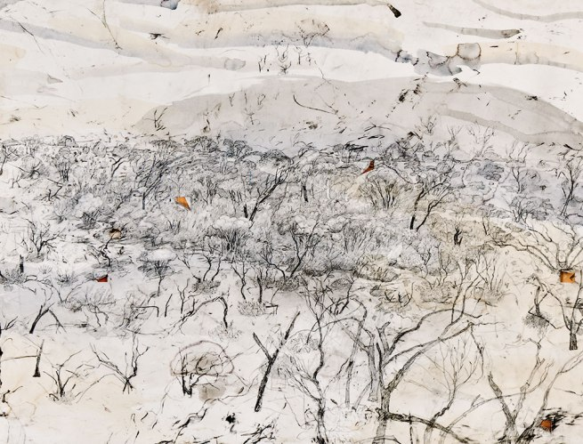John Wolseley Murray-Sunset refugia with 14 ventifacts (detail) 2008-10
