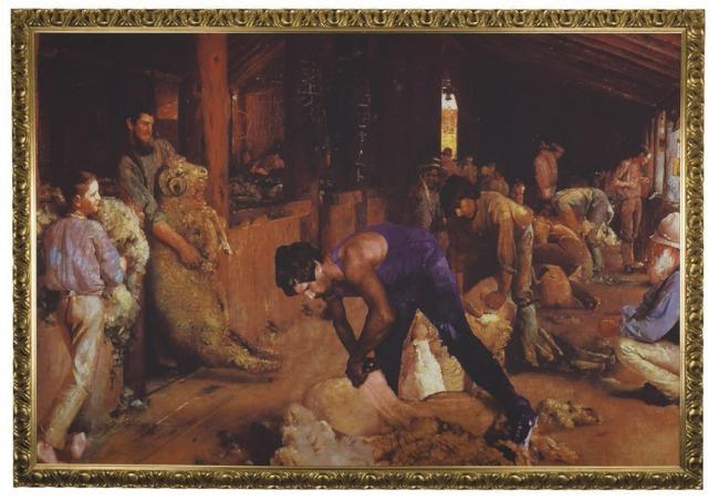 Dianne Jones. 'Shearing the rams' 2001