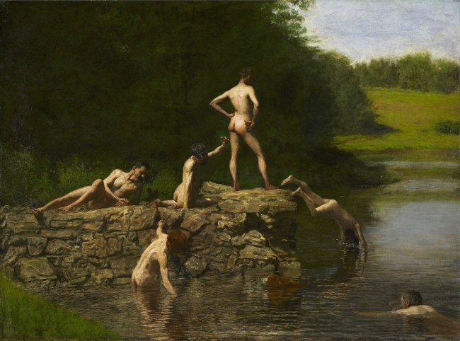 Thomas Eakins (1844-1916)  'Swimming / The swimming hole' 1885