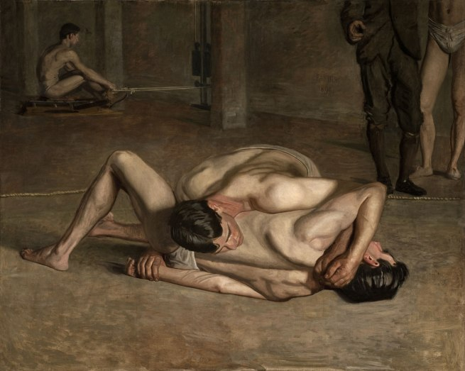 Thomas Eakins. 'Wrestlers' 1899